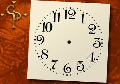ANSONIA, Alarm clock, Antique Clock Dial, arabic numbers, replacement clock dial