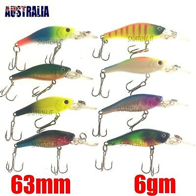 8 Redfin & Bream Freshwater Fishing Lures, Flathead, Bass, Perch,Trout,Cod Lure