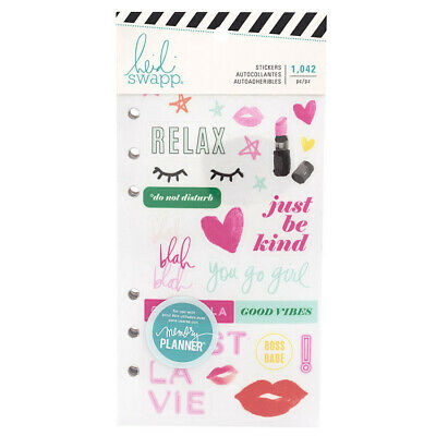 Heidi Swapp Color Fresh Collection Planner Sticker Book 1042 Stickers 30 Pages