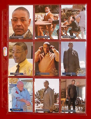 """BREAKING BAD - """"LOS POLLOS HERMANOS"""" CHASE SET of 9 CARDS - Cryptozoic"""