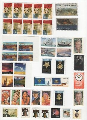 45 Forever US Postage Stamps - Face Value $24.75 - Variety as Shown