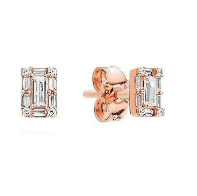 S925 Silver &14K Rose Gold Pl Luminous Ice Crystals Earrings by Pandora's Angels