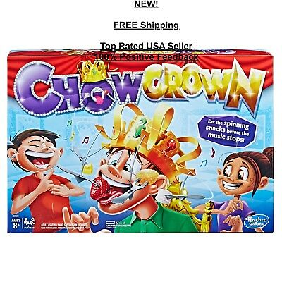 NEW - Hasbro Chow Crown Game Kids Family Electronic Spinning Multiplayer Board
