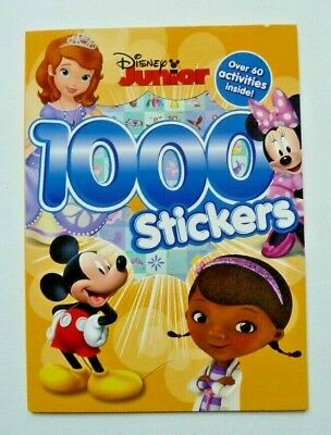 1000 Stickers Disney Junior Book Over 60 Activities Ages 3+ Yr New Birthday Gift