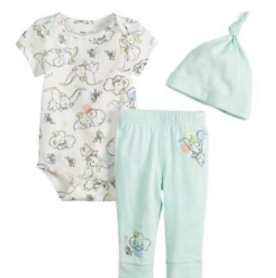 Disney Dumbo Baby 3 Piece Outfit Size Nb 3 6 9 12 18 Months New!