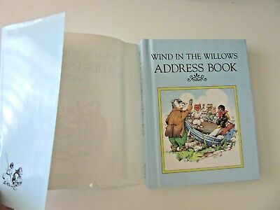 ADDRESS BOOK - Wind In The Willows  - H/cD/j 14.5 x 11.5 cm - Award