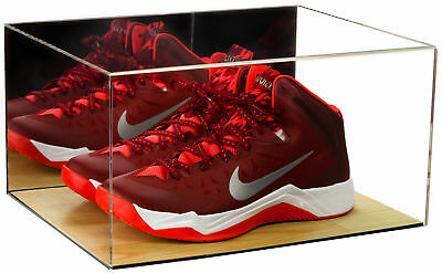 Deluxe Acrylic Basketball Shoe Display Case with Mirror and Wood Floor (A026)