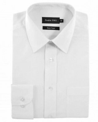 Double Two Classic Cotton Blend Long Sleeved Shirt in White