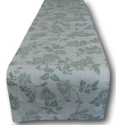 Designer Table or Bed Runners made in Laura Ashley's Lilac Eau de Nil Green