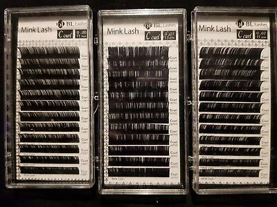 Blink BL Lashes Mink Tray Lashes C, D curl For Individual Eyelash Extensions
