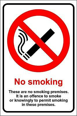No smoking these are non smoking premises safety sign