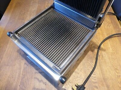 Genuine Roller Grill Savoye Double Ribbed Catering Panini Machine Contact Grill