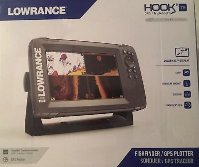 New Lowrance HOOK2-7x Tripleshot GPS Fish Finder 000-14022-001