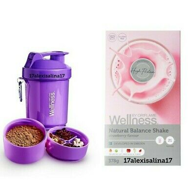 Oriflame Wellness Natural Balance Shake Natural Strawberry + Shaker with Scoop