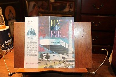 Vintage 1964-1965 World's Fair New York Map Bell Systems Fun at the Fair Guide