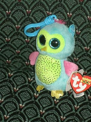 a43abd8b7f5 Ty Beanie Boo OPAL Justice Exclusive OWL CLIP 2013 MWMT RARE   RETIRED HTF