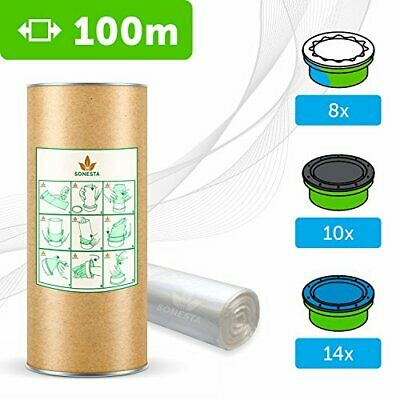 100 M - ECO Recarga compatible Sangenic Tommee Tippee | Angelcare para pañale...