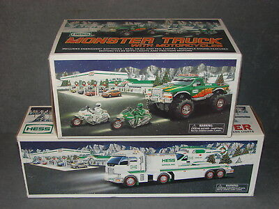 Hess 2006 Truck & Helicopter + 2007 Monster Truck with Motorcycles [w/ Boxes]