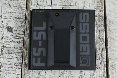 Boss FS-5L Electric Guitar Latching Footswitch Pedal with LED Status Indicator
