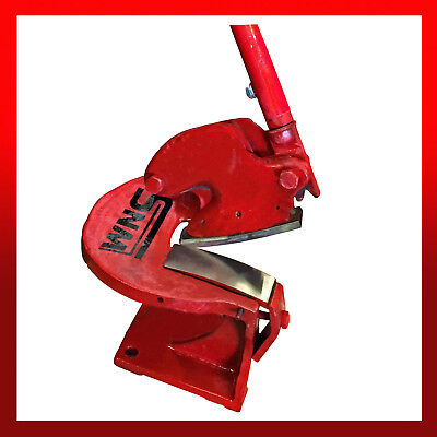 WNS Sheet Metal Throatless Shear Curved Blade Cropper Cutter Guillotine 100mm