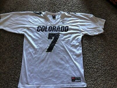 a2cae0edbb7 Mens Vintage Nike Team Colorado Buffaloes CU Buffs Gold Football Jersey Sz  L VTG