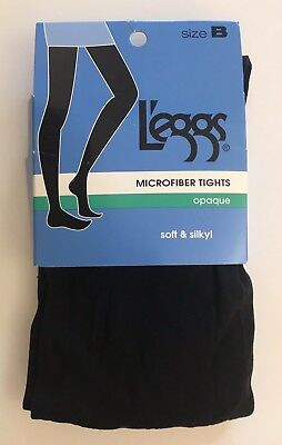 Ivory  #032021 2 pair Leggs Microfiber Tights Opaque Soft /& Silky Size Q