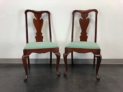 PENNSYLVANIA HOUSE Solid Cherry Queen Anne Dining Side Chairs - Pair 1
