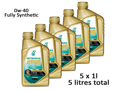 Motor Engine Oil 5 Litres Fully Synthetic - Petronas Syntium SAE 0W40 5L Litres