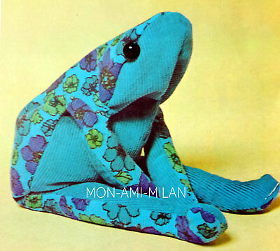 """Frog Sewing Pattern Photocopy To Make a Bean-Bag Doorstop / Ornament / Toy 13"""""""