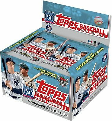 2019 Topps MLB Baseball Series 1 Factory Sealed Retail Box 24 Packs Of 16 Cards