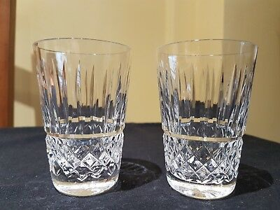 """PAIR OF WATERFORD CRYSTAL """"BALTRAY"""" CUT GLASS HEAVY LEAD CRYSTAL 5oz TUMBLERS"""