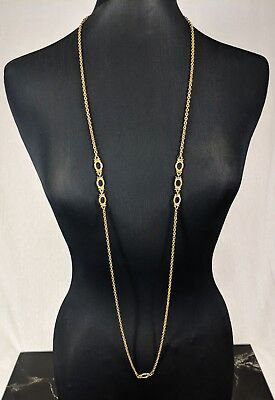 Lovely Vintage Gold-tone Long Chain Necklace