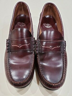 da3807cb218 Florsheim Men s Burgundy Berkley Penny Loafers Size 7.5 D Leather Shoes  17058-05