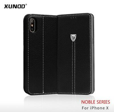 XUNDD Luxury Magnetic Flip Stand Wallet Leather Case Cover For iPhone X - Black