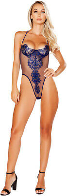 Sexy Seductive Elegant Sheer Eyelash Lace Detail Teddy Lingerie Adult Women