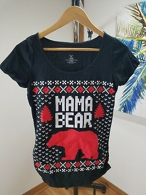 7fefac74f7160 Mama Bear Ugly Maternity Scoop Neck Tee Shirt-Size Small