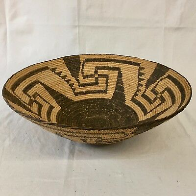 Large, Great, Vintage - Native American Indian (Pima) Basket - Circa 1920s