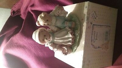 """Cherished Teddies Jack and Jill #624772 """"Our Friendship Will Never.."""" w/Box 1993"""