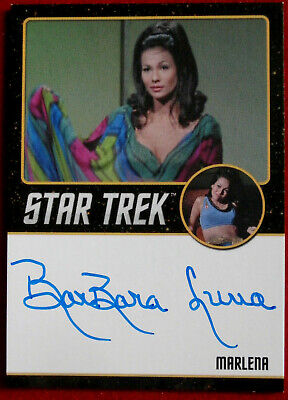 STAR TREK TOS 50th BARBARA LUNA as Marlena LIMITED EDITION Autograph Card