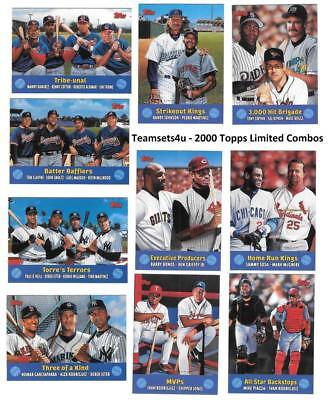 2000 Topps Limited Combos (Tiffany) Baseball Cards ** Pick Your Card **