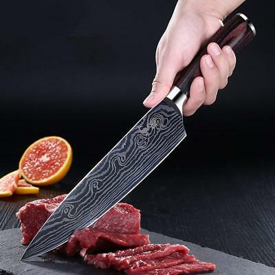 "Kitchen 8"" Sharp Carbon Chefs Knife Japanese Professional High Stainless Steel"