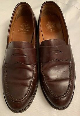 7f13b891a92 JCREW Ludlow Penny Loafers Shoes 11D english tan brown Leather a4362 J.crew