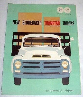 1957 STUDEBAKER Transtar TRUCKS • Sales BROCHURE • Showroom Catalog