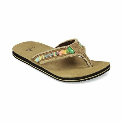 4776ddc7b2e MENS REEF LEATHER Smoothy Bronze Brown Flip Flops Sandals Size 6-12 ...