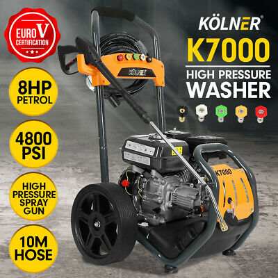 Kolner 8HP 4800psi Cleaner Petrol High Pressure Washer Gurney Water Jet K7000
