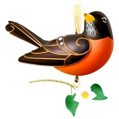 Hallmark 2018 Robin Beauty of Birds Series #14 NIB Keepsake Xmas Ornament