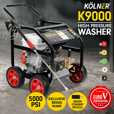 Kolner K9000 Cleaner Petrol High Pressure Washer Gurney Water Jet Hose 20m Pump