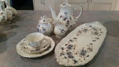 22 Piece Zsolnay Coffee/Tea Set for Six -Mint Condition