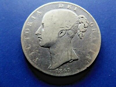 UK 1847 One Silver Crown