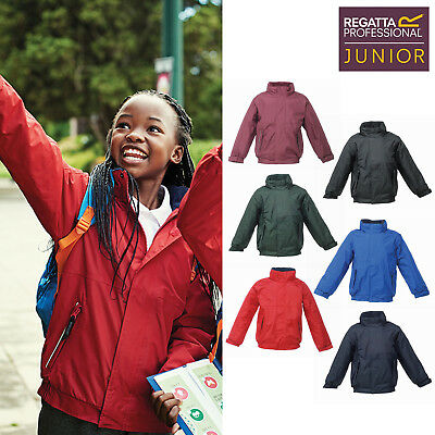 Regatta Junior Kids Dover Jacket TRW418 - Childrens Waterproof/Windproof Coat